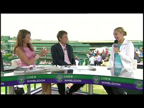 Sabine Lisicki Talks To Live @ Wimbledon