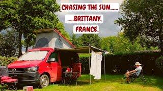 Brittany, France. Ille et Vilaine. Domaine du Logis campsite. June 2019.