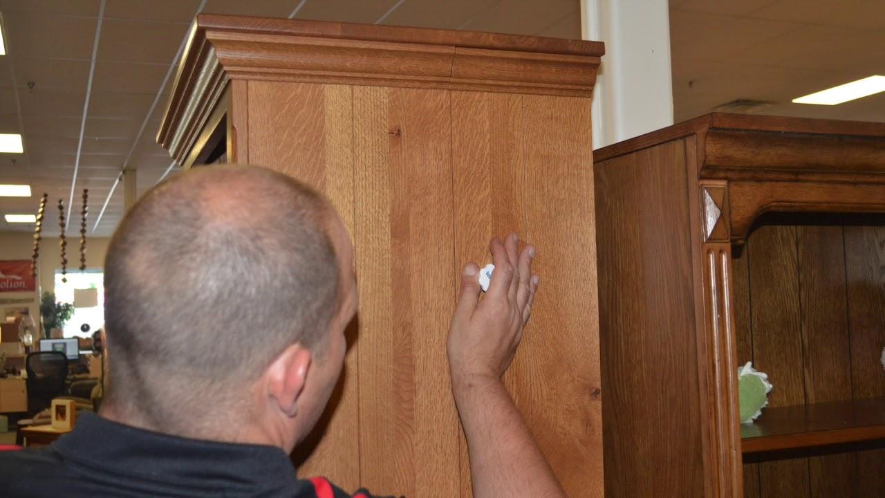 Custom Built Amish Hideaway Secret Gun Case In A Curio Cabinet