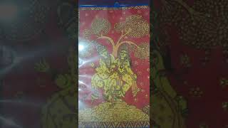 #Kalamkari Art of radhekrishna...