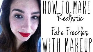 Tutorial: How To Make Realistic Fake Freckles With Makeup