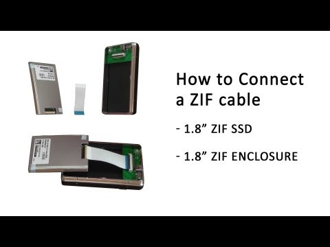 """Tutorial: How to correctly connect a ZIF Cable into a 1.8"""" SSD and a 1.8"""" Enclosure"""