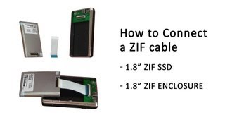 Tutorial: How to correctly connect a ZIF Cable into a 1.8