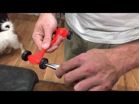Pinewood Derby Secrets Part 7 - adjusting wheels for straight run or rail riding