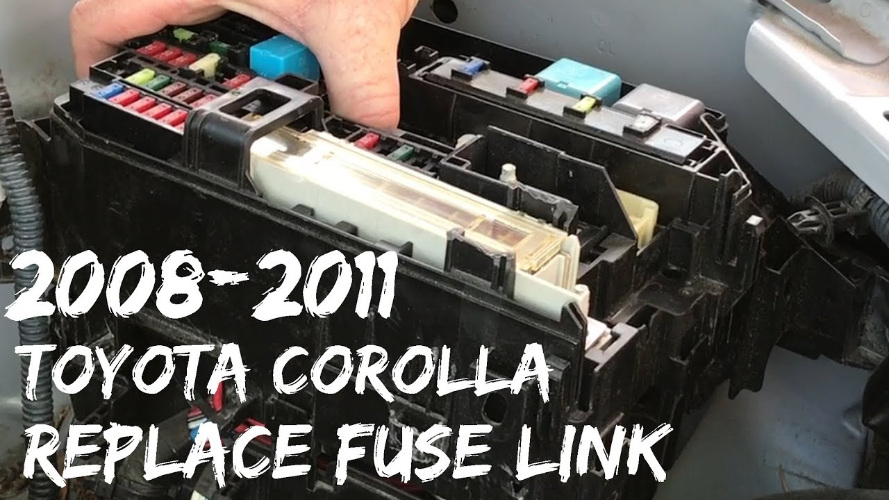 2008 2011 toyota corolla fuse link replacement fusible alternator 2017 Camry Fuse Box Diagram at 2009 Toyota Corolla Exterior Fuse Box