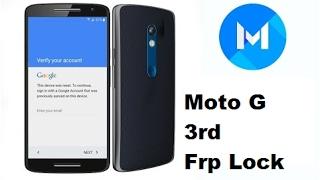 Motorola Moto G (3rd Generation) Google account Remove