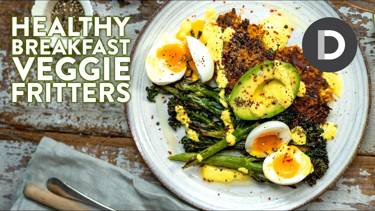 HEALTHY BREAKFAST RECIPE: Veggie Fritters & Perfect Boiled Eggs! 🍳