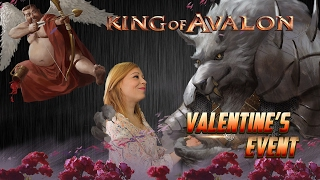KoA - Valentine's Day Event With Lady of Avalon(King of Avalon – Dragon Warfare Download now! http://bit.ly/Download_KoA With subtitles. Please click