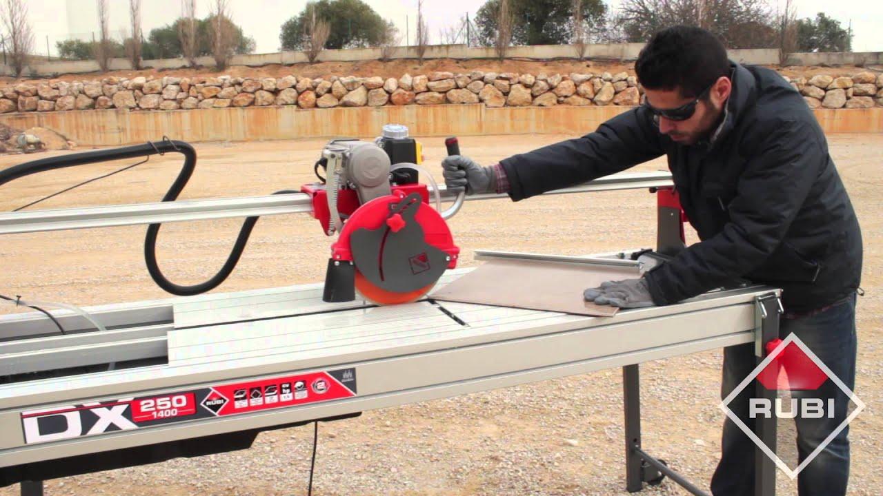 wet saw tile cutter cortador electrico rubi dx 250
