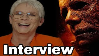 HALLOWEEN KILLS INTERVIEW:JAMIE LEE CURTIS gets emotional & why she JUST wants a pair of scrubs!