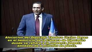 Diputado Teodoro Ursino Reyes en la Cámara de Diputados se refiere a jeepeta blindada de 9 millones