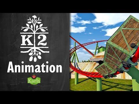 Karls K2 Achterbahn Animation - Karls Erlebnis Dorf
