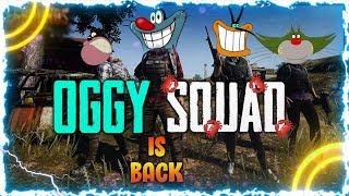 When Oggy Plays With Squad [Oggy,Jack,Mottu,Bob] : PUBGMOBILE