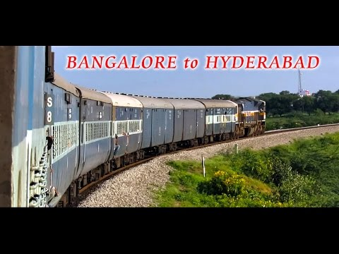 BANGALORE to HYDERABAD : Train Journey in Karnataka Samparkranti (Indian Railways)