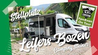 Stellplatz Bericht Italien - fan4van testet Camping Steiner in Leifers
