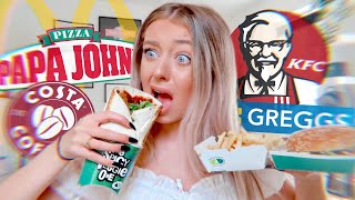 I ONLY ate VEGAN FAST FOOD for 24 HOURS!