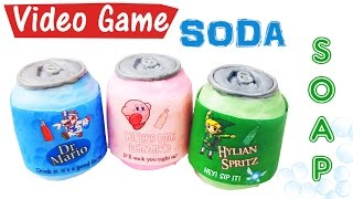 DIY VIDEO GAME SODA SOAP (Paper melts too!) | Melt and pour soap tutorial