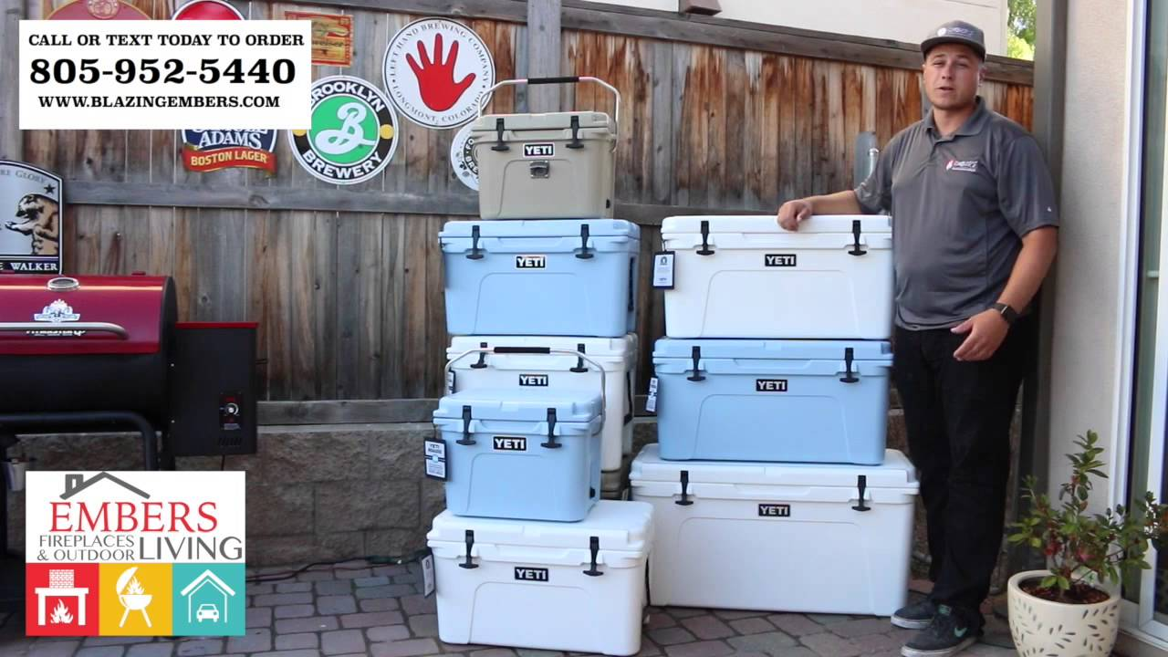 Yeti Tundra 65 Cooler Product Review Ice Blue Dessert Tan White