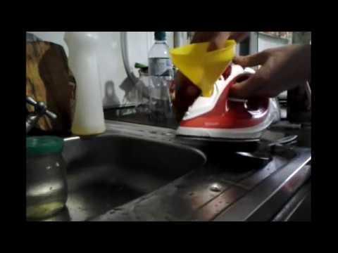 Очистка утюга PHILIPS от накипи, лимонной кислотой.