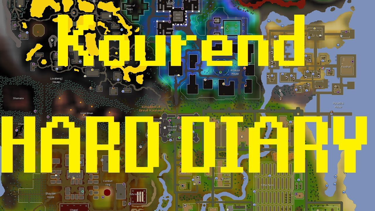Kourend And Kebos Hard Diary Osrs Guide Youtube Not a complete guide explaining every step, but an efficient way to complete all. kourend and kebos hard diary osrs guide