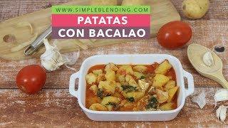PATATAS CON BACALAO | Patatas guisadas con bacalao | Guiso de patata con bacalao