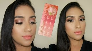 TOO FACED Sweet Peach Palette Tutorial | Peach/coral Spring Makeup