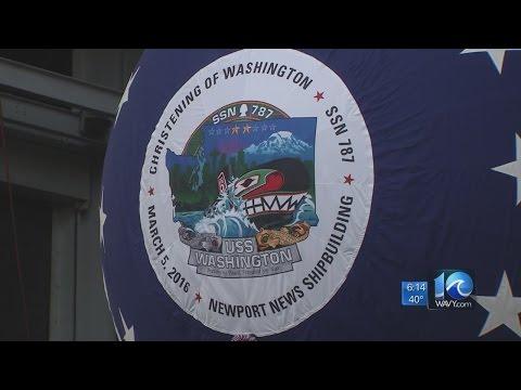 Newport News Shipbuilding christens new submarine