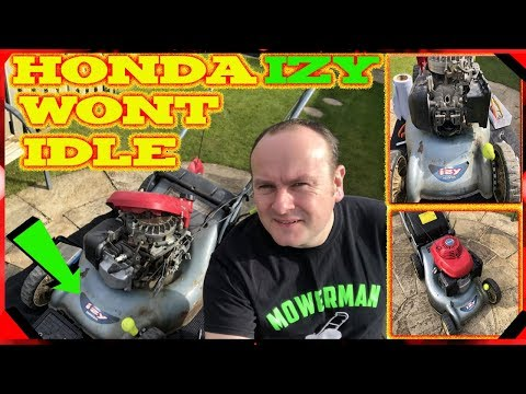 Honda Lawnmower Won't Idle (Service Carburetor And Set Valves)