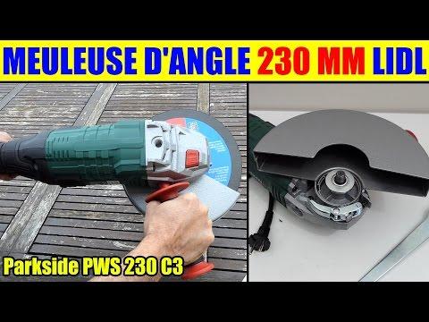 meuleuse d'angle parkside lidl pws 230 angle grinder winkelschleifer