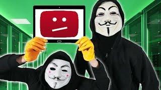 GIANT YouTuber HACK in 24 HOURS - Chad Wild Clay, Vy Qwaint, Daniel & Regina PZ4 Hacker Challenge