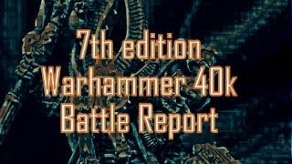 warhammer 40k battle report: Dark Angels v.  Craftworld Eldar