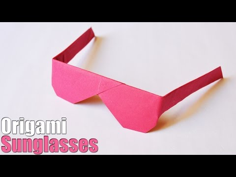 How to make an Origami Sunglasses | Easy | Tutorial