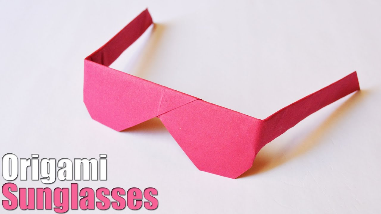 How to make an Origami Sunglasses | Easy | Tutorial - YouTube - photo#21