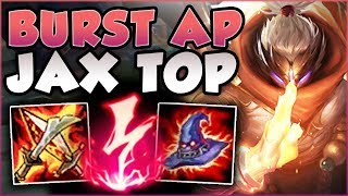 WTF! AP JAX LETS YOU 3 SHOT TOWERS NOW?? BURST AP JAX TOP GAMEPLAY SEASON 8! - League of Legends