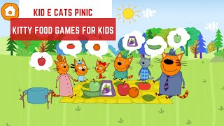 Fun Cartoon Game for kids -  Kid E Cats Pinic : Kitty Food Games For Kids