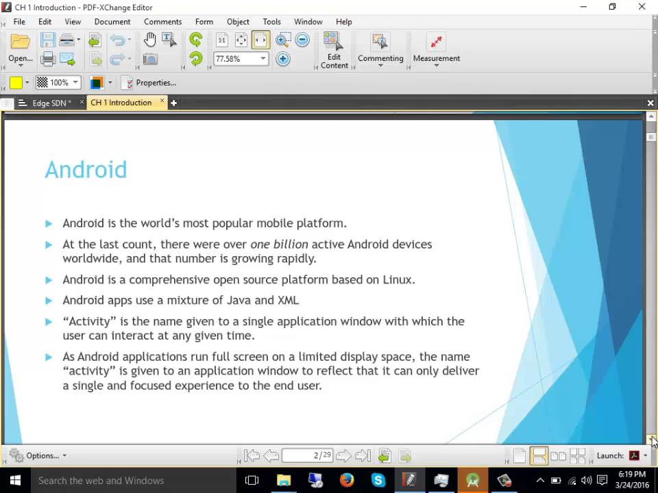 advanced android tutorial pdf