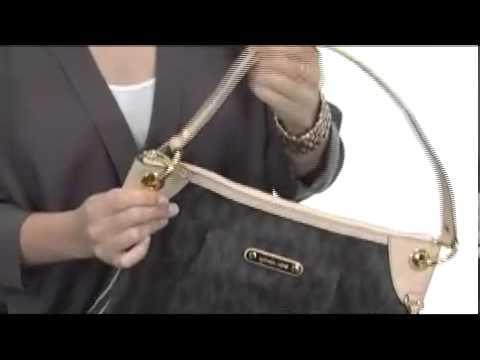 500fd67bb230 MICHAEL Michael Kors Large Jet Set Signature PVC Shoulder Bag SKU   8195285  - YouTube