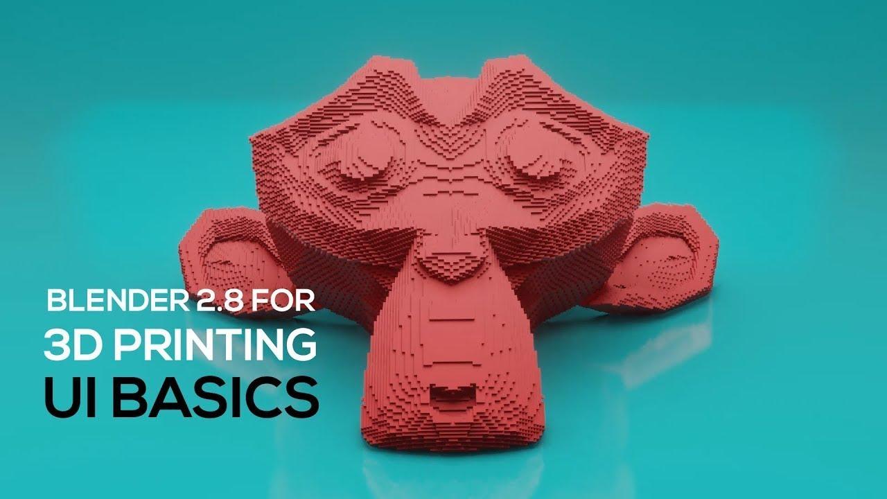 Blender 2.8 UI for 3D Print Designers - Explained in 12 Minutes