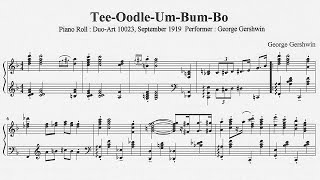 I transcribed Piano Roll(Duo-Art 10023, Performer is George Gershwi...