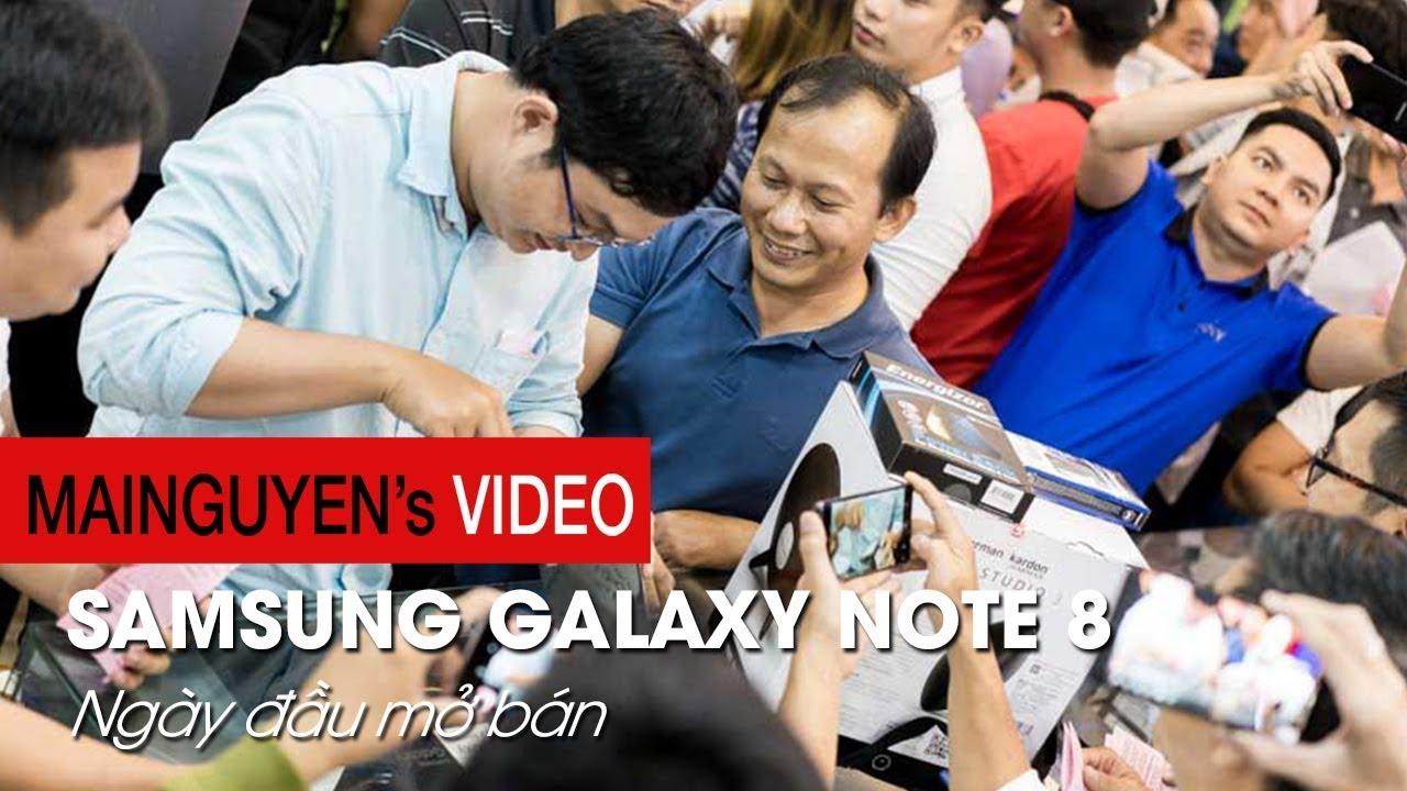 Mai Nguyên ngày đầu mở bán Samsung Galaxy Note 8: Midnight Delivery - www.mainguyen.vn