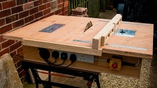Homemade table saw with built in router and inverted jigsaw 3 in 1 thumbnail