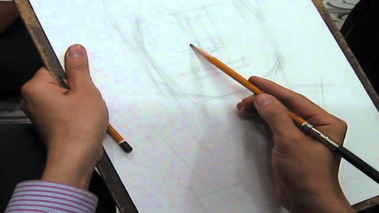 Vẽ tượng thi Kiến Trúc Hà Nội năm 2008 góc chính diện part 1