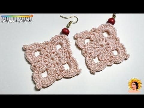"""Crochet """"Lace Diamond"""" Earrings   Tutorial"""