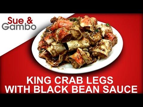 King Crab Legs With Black Bean Sauce