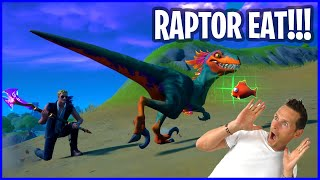 TAMING A RAPTOR WITH FISH AND MEAT!