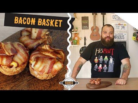Cestas de Bacon com Ovo e Queijo - Bacon Basket