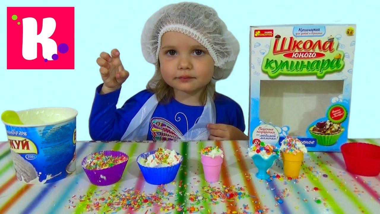 Готовим малиновое шоколадное мороженое с тётей
