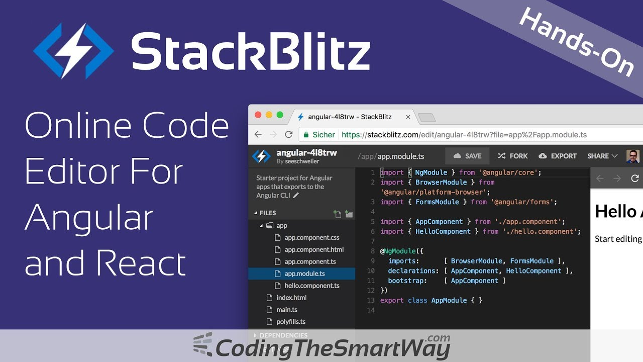 StackBlitz - Online Code Editor For Angular and React - Introduction