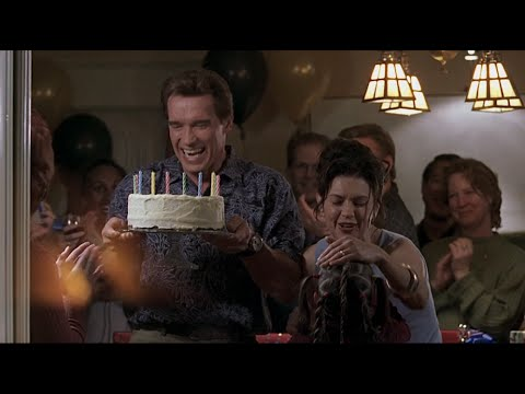 """"""". . . eating my birthday cake"""": clip from The 6th Day (Arnold Schwarzenegger movie)"""