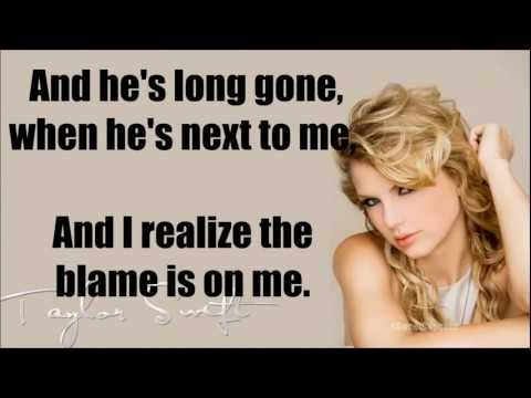 Taylor Swift I knew you were Trouble Instrumental/ Lyrics